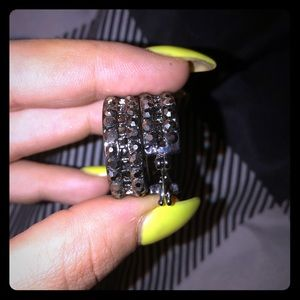Jewelry - Black studded hoops